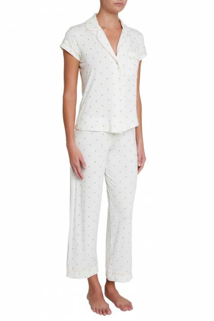 Eberjey Giving Palm giving palm the short sleeve and cropped pant pj set