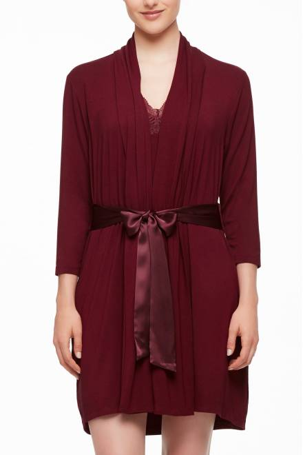Fleur't Fleur't Essentials Robe With Silk Ties