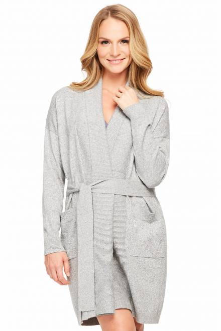 Fleur't Cashmere Bliss Belted Modern Cardigan