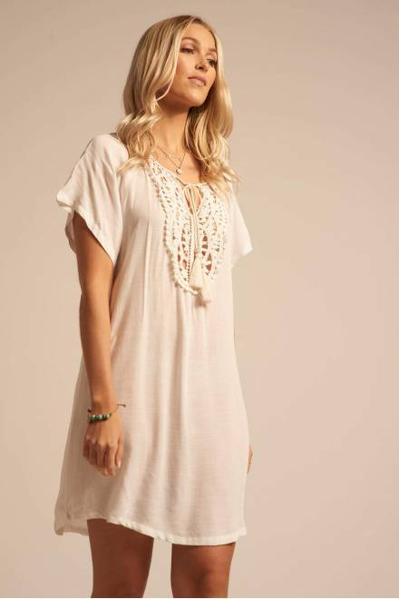 Koy Resort Paradise  CROCHET PATCH DRESS