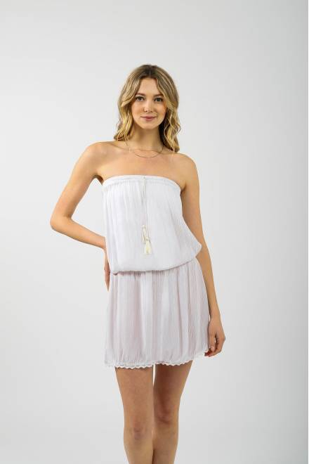 Koy Resort Miami  BANDEAU DRESS W/SMOCKING