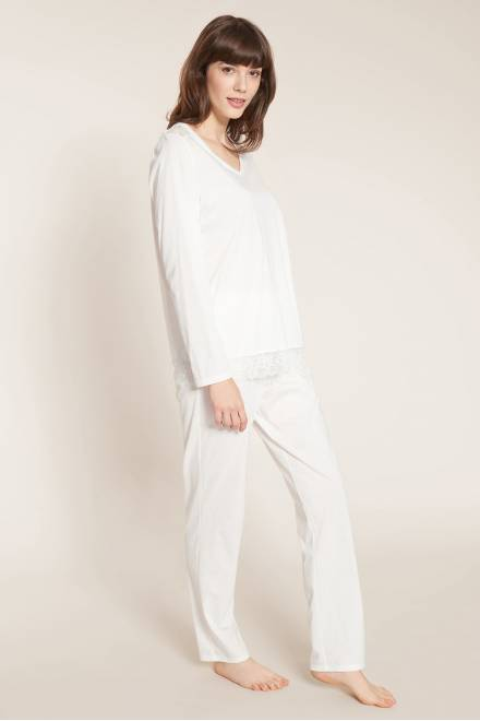 Rosch Nos Long pajamas with lace details