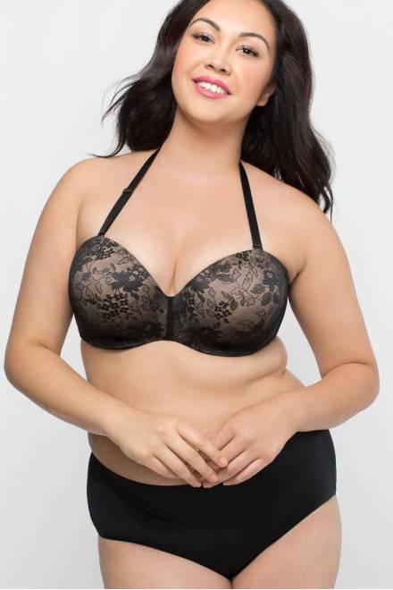 086be180a4185 Curvy Couture Strapless Sensation Multi-Way Push-Up