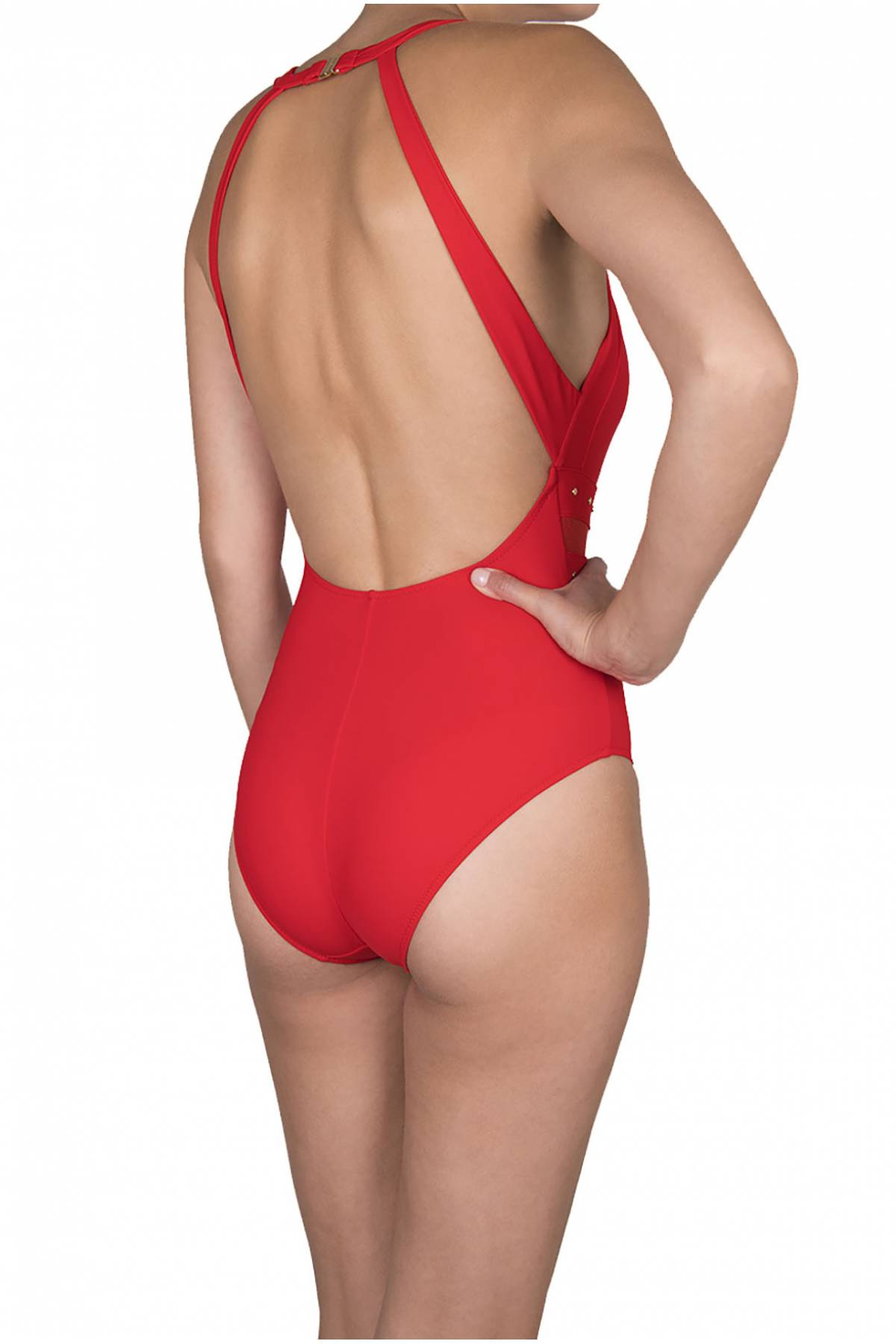 Shan So Sexy High neck open back one piece