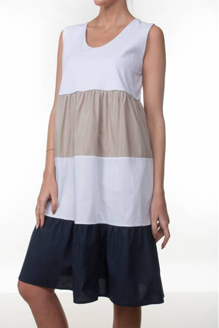 Caterina Popeline-jersey SLEEVELESS DRESS