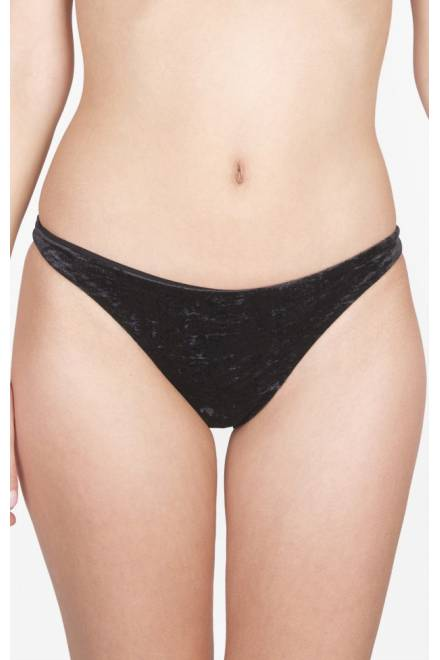Shan Velour Low rise hipster bikini bottom