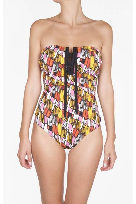 Shan Picasso Bandeau one piece