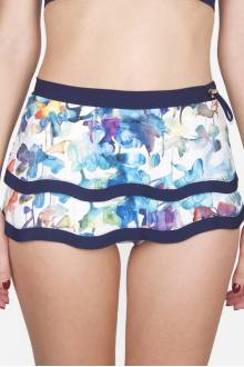 Shan Lily Rose High waist skirted bikini bottom