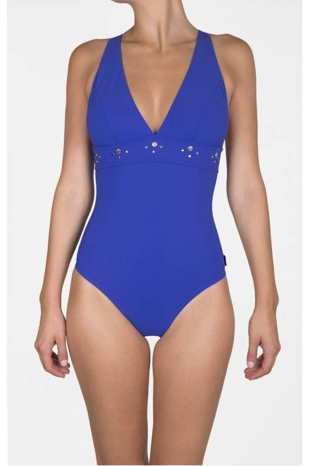 Shan So Sexy Classic plunging V neck one piece