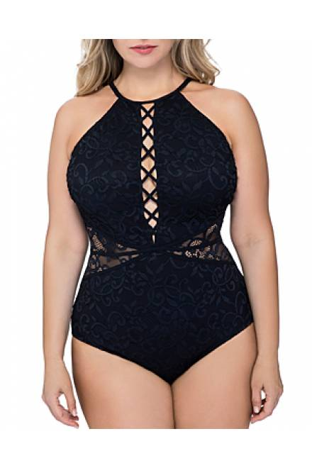 Profile by Gottex Shalimar High Neck Lace One Piece